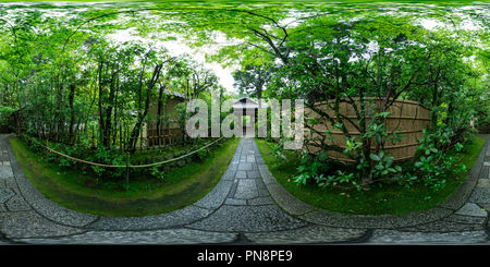 The fresh green of Koto-in temple at Kyoto, Japan 02 - Stock Photo