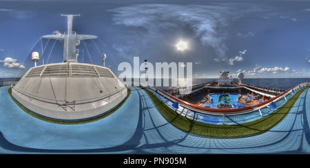 Deck 11 - Aft Section, Carnival Spirit - Stock Photo