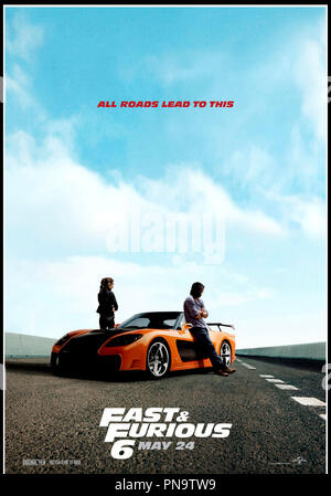 Prod DB © Universal Pictures - Original Film / DR FAST & FURIOUS 6 (FAST AND FURIOUS 6) de Justin Lin 2013 USA affiche americaine suite, sequelle, action - Stock Photo
