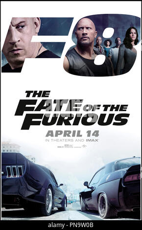 Prod DB © Universal Pictures - Itaca Films - One Race Films - Original Film / DR FAST & FURIOUS 8 (THE FATE OF THE FURIOUS) de F. Gary Gray 2017 USA/FRA./CAN./GB/SAMOA teaser americain action, suite, sequelle, saga - Stock Photo