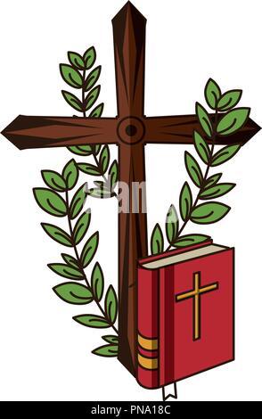 Christian cross symbol - Stock Photo