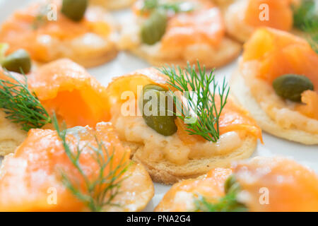 seafood salmon cocktail for lunch - Stock Photo