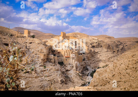 Holy Lavra of Saint Sabbas the Sanctified (Mar Saba) monastery - Stock Photo