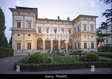 Villa Farnesina in via della Lungara, hosts the Accademia Nazionale dei Lincei and its important library , Rome, Italy    Photo © Fabio Mazzarella/Sin - Stock Photo
