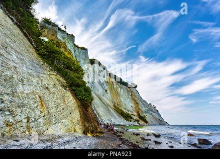 white cliffs of  Møn - Stock Photo