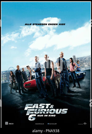 Prod DB © Universal Pictures - Original Film / DR FAST & FURIOUS 6 (FAST AND FURIOUS 6) de Justin Lin 2013 USA affiche allemande suite, sequelle, action - Stock Photo