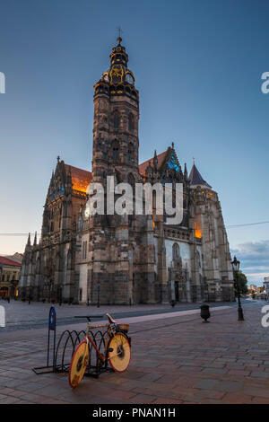 Kosice, Slovakia - August 12, 2018: St. Elisabeth cathedral in the main square of Kosice city in eastern Slovakia. - Stock Photo