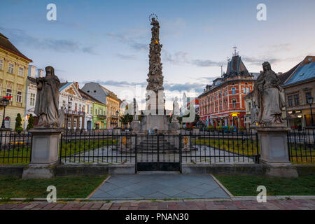 Kosice, Slovakia - August 12, 2018: Immaculata statue in the main square of Kosice city in eastern Slovakia. - Stock Photo