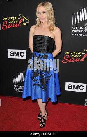 Rhea Seehorn at the 'Better Call Saul' Season 3 Los Angeles Premiere held at the ArcLight Cinemas Culver City in Culver City, CA on Tuesday, March 28, 2017. Photo by PRPP / PictureLux   File Reference # 33271_024PRPP01  For Editorial Use Only -  All Rights Reserved - Stock Photo