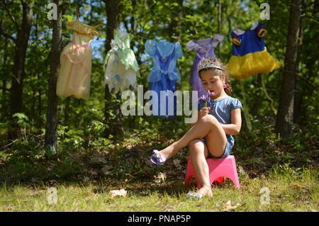 Princess Laundry Day - Stock Photo