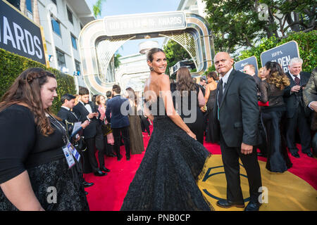 Heidi Klum arrives at the 75th Annual Golden Globe Awards at the Beverly Hilton in Beverly Hills, CA on Sunday, January 7, 2018. - Stock Photo
