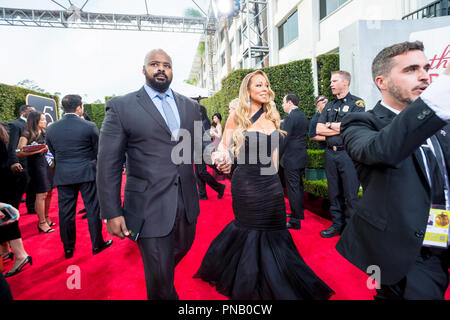 NOMINEE for BEST ORIGINAL SONG -- MOTION PICTURE for 'The Star', and Mariah Carey arrives at the 75th Annual Golden Globe Awards at the Beverly Hilton in Beverly Hills, CA on Sunday, January 7, 2018. - Stock Photo