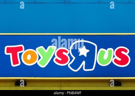 Babies R Us Brand Logo On Building Exterior Stock Photo 145839983