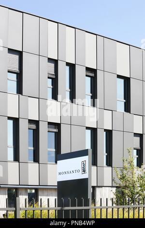 Saint Priest, France - September 8, 2018: Monsanto office building and european headquarters in Saint Priest, France - Stock Photo