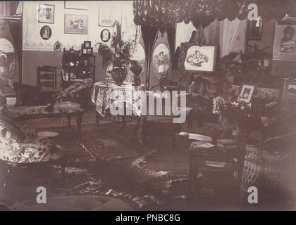* Vintage Photograph of a Victorian Parlour Room - Stock Photo