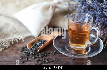 Brewed tea on a serving table - Stock Photo