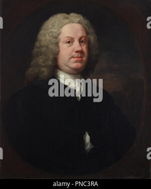 Dr Benjamin Hoadly, MD. Date/Period: Early 1740s. Painting. Oil on canvas. Height: 985 mm (38.77 in); Width: 862 mm (33.93 in). Author: William Hogarth. - Stock Photo