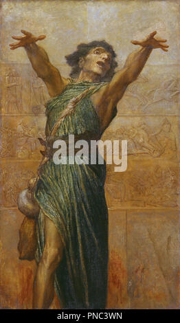 Jonah. Date/Period: 1894. Painting. Oil on canvas. Height: 155.5 cm (61.2 in); Width: 91.4 cm (35.9 in). Author: GEORGE FREDERIC WATTS. Watts, George Frederic. - Stock Photo