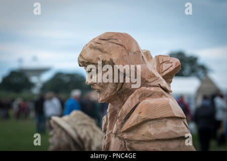 Cheshire Game & Country Fair Open Chainsaw Competition 2018 - Stock Photo
