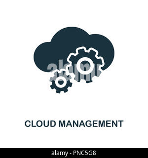Cloud Hosting icon  Monochrome style design from big data