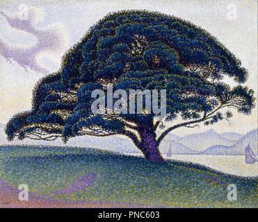 The Bonaventure Pine. Date/Period: 1893. Oil on canvas. 65.7 x 81 cm (without frame). Author: Paul Signac. SIGNAC, PAUL. - Stock Photo