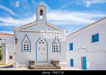 Church of Agia Varvara in Chora town on Andros island, Cyclades, Greece - Stock Photo