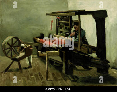 Weaver. Date/Period: 1884. Painting. Oil on canvas. Height: 625 mm (24.60 in); Width: 844 mm (33.22 in). Author: VINCENT VAN GOGH. - Stock Photo
