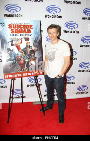 Gideon Emery promoting DC's Suicide Squad Hell To Pay at  Day 1 of WonderCon Anaheim 2018. Held at the Anaheim Convention Center in Anaheim, CA. March 23 2018. Photo by: Richard Chavez / PictureLux - Stock Photo