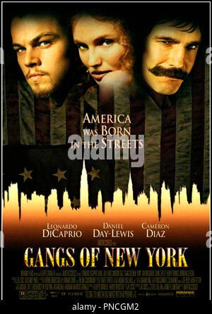 Prod DB © Miramax / DR GANGS OF NEW YORK (GANGS OF NEW-YORK) de Martin Scorsese 2002 USA affiche americaine d'apres le roman de Herbert Asbury - Stock Photo