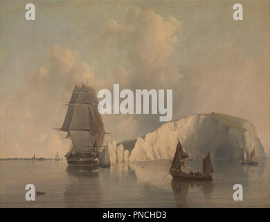 Off the Needles, Isle of Wight. Date/Period: 1845. Painting. Oil on canvas. Height: 686 mm (27 in); Width: 889 mm (35 in). Author: Edward William Cooke. - Stock Photo