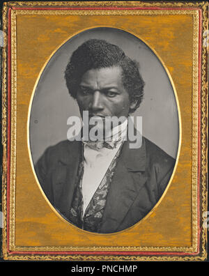 Frederick Douglass. Date/Period: 1847/52. Photograph. Daguerreotype Daguerreotype. Height: 140 mm (5.51 in); Width: 106 mm (4.17 in). Author: Samuel J. Miller. - Stock Photo
