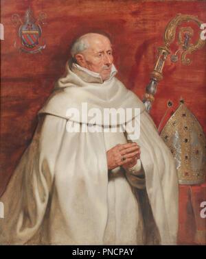 Matthaeus Yrsselius (1541-1629), Abbot of Sint-Michiel's Abbey in Antwerp. Date/Period: Ca. 1624. Painting. Oil on oak wood. Height: 1,200 mm (47.24 in); Width: 1,025 mm (40.35 in). Author: PETER PAUL RUBENS. Rubens, Pieter Paul. - Stock Photo
