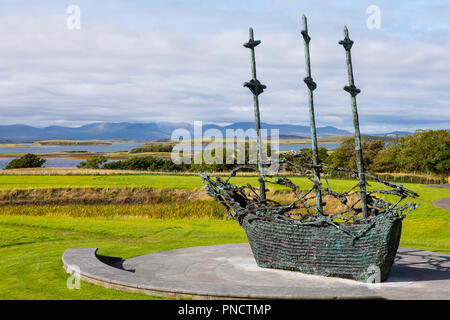County Mayo, Ireland - August 20th 2018: A view of the National Famine Monument near Westport in the Republic of Ireland. - Stock Photo