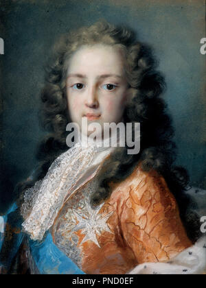 Louis XV of France (1710-1774) as Dauphin. Date/Period: 1720 - 1721. Painting. Height: 505 mm (19.88 in); Width: 385 mm (15.15 in). Author: CARRIERA, ROSALBA. ROSALBA CARRIERA. Carriera, Rosalba Giovanna. - Stock Photo