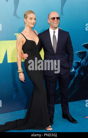 Rosie Huntington-Whiteley, Jason Statham at the Premiere of Warner Bros' 'The Meg' held at the TCL Chinese Theatre in Hollywood, CA, August 6, 2018. Photo by Joseph Martinez / PictureLux - Stock Photo