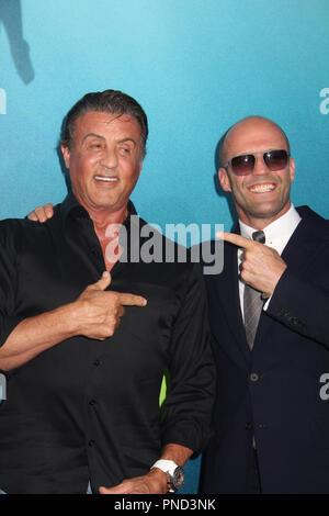 Sylvester Stallone, Jason Statham  08/06/2018 The U.S. Premiere of 'The MEG' held at the TCL Chinese Theater in Los Angeles, CA Photo by Izumi Hasegawa / HNW / PictureLux - Stock Photo