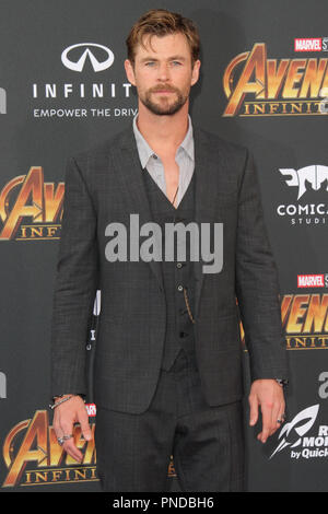 Chris Hemsworth at the World Premiere of Marvel Studios' 'Avengers: Infinity War' held on Hollywood Blvd. in Hollywood, CA, April 23, 2018. Photo by Joseph Martinez / PictureLux - Stock Photo