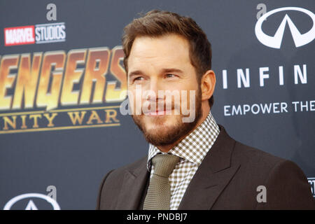 Chris Pratt at the World Premiere of Marvel Studios' 'Avengers: Infinity War' held on Hollywood Blvd. in Hollywood, CA, April 23, 2018. Photo by Joseph Martinez / PictureLux - Stock Photo