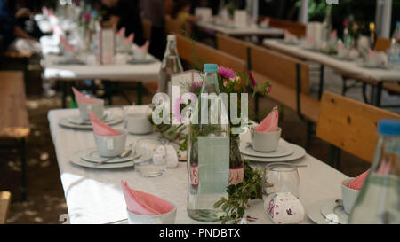 Table Setting Food Celebration Party Concept - Stock Photo