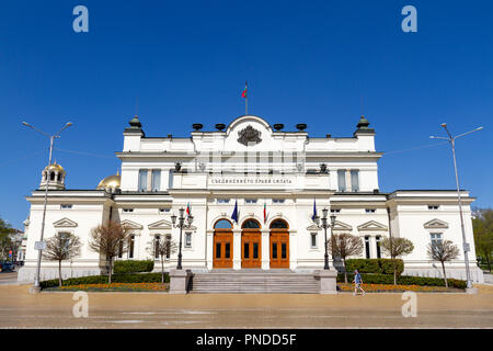 The National Assembly of the Republic of Bulgaria in Sofia, Bulgaria. - Stock Photo