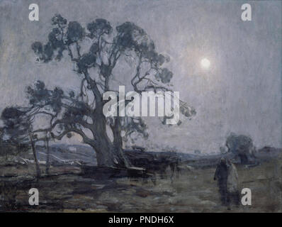 Abraham's Oak. Date/Period: 1905. Painting. Oil on canvas Oil on canvas. Height: 543.05 mm (21.37 in); Width: 727.20 mm (28.62 in). Author: HENRY OSSAWA TANNER. - Stock Photo