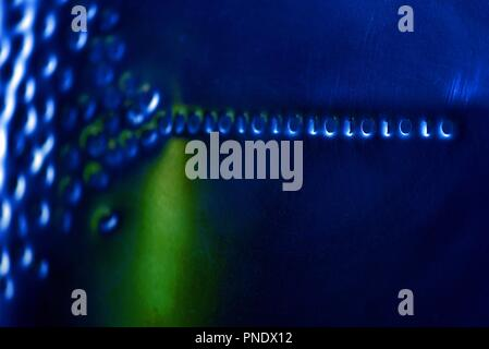 Binary code: digital language emerging from a numerical cloud - Stock Photo