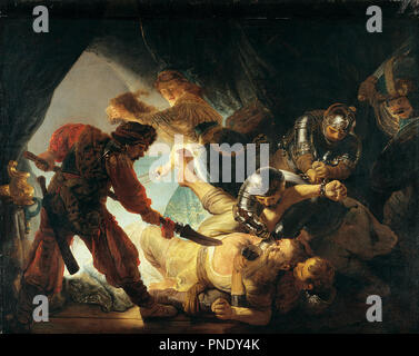 The Blinding of Samson. Date/Period: 1636. Painting. Oil on canvas. Width: 276 cm. Height: 206 cm (Complete). Author: REMBRANDT, HARMENSZOON VAN RIJN. REMBRANDT HARMENSZOON VAN RIJN. Rembrandt van Rhijn. - Stock Photo