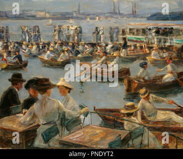 On the Alster in Hamburg. Date/Period: 1910. Painting. Oil on canvas. Height: 85.5 cm (33.6 in); Width: 104 cm (40.9 in). Author: MAX LIEBERMANN. LIEBERMANN, MAX. - Stock Photo