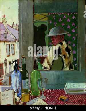 Ready To Start. Self Portrait, 1917. Date/Period: 1917. Painting. Oil. Height: 608 mm (23.93 in); Width: 494 mm (19.44 in). Author: William Orpen. - Stock Photo