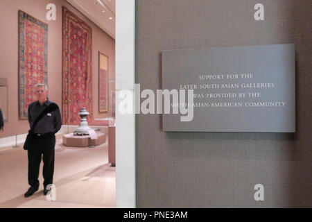 Later South Asian Galleries in the Metropolitan Museum of Art, NYC, USA - Stock Photo