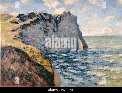 The Cliff of Aval, Etrétat. Date/Period: 1885. Painting. Oil on canvas Oil on canvas. Author: CLAUDE MONET. MONET, CLAUDE. - Stock Photo
