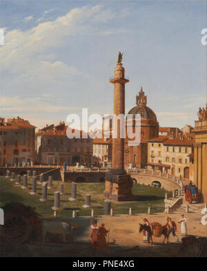 A View of Trajan's Forum, Rome. Date/Period: 1821. Painting. Oil on canvas. Height: 619 mm (24.37 in); Width: 511 mm (20.11 in). Author: CHARLES LOCK EASTLAKE. - Stock Photo