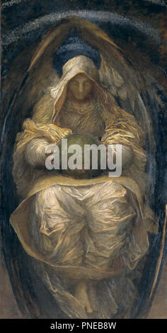 The All-Pervading. Date/Period: Ca. 1887. Painting. Oil on canvas. Height: 2,135 mm (84.05 in); Width: 1,120 mm (44.09 in). Author: GEORGE FREDERIC WATTS. Watts, George Frederic. - Stock Photo