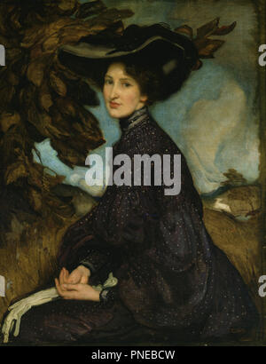 Miss Thea Proctor. Date/Period: 1903. Painting. Oil on canvas. Height: 90 cm (35.4 in); Width: 69.8 cm (27.4 in). Author: George Washington Lambert. GEORGE W. LAMBERT. - Stock Photo